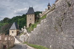 The walls of Karlstejn Castle (beyondhue) Tags: karlstejn castle czech republic wall beyondhue medieval archtecture tower summer trip travel sidewalk