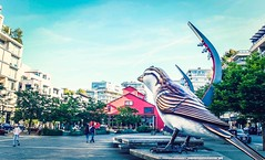 Looking Forward To - Vancouver, Canada (, ) (dlau Photography) Tags: vancouver canada   olympicsquare olympic square       tokyo  olympicvillage   pigeon   birdstatue   travel tourist vacation visitor people lifestyle life style sightseeing   trip   local   city  urban tour scenery   weather   outdoor