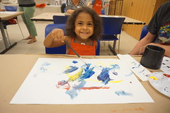 Arturo's Art & Me, 2016.9 (Center for Creative Connections) Tags: dallasmuseumofart dma kids preschoolers families fun creativity artmaking painting wassily kandinsky studio gallery color