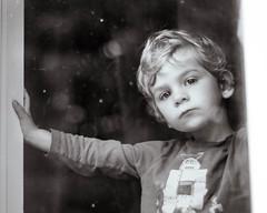 30/365 - Dirty Window (kate.millerwilson) Tags: window child depthoffield voigtlander naturallight boy light