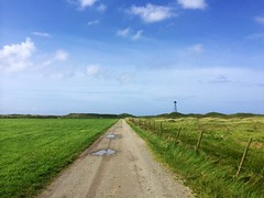 image (KTEide) Tags: norway beach blue sky gravel road