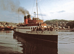 King George V Oban (shipcard) Tags: macbrayne tsskinggeorgev turbinesteamer turbinesteamersltd oban westhighland scotland argyll