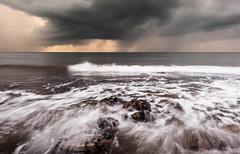 Beach weather 2 (alf.branch) Tags: sea seaside seawaves seascape seaweed rocks rough roughsea irishsea water waves wave westcumbria parton partonbeach olympus olympusomdem1 zuiko zuiko1240mmf28pro