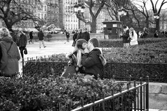 Public Display of Affection (cneumannova) Tags: bw paris black white love lovers parisian street streetphoto doisneau nikon city