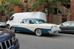 Zoom (Flint Foto Factory) Tags: chicago illinois urban city summer august 2016 north lakeview 650 wcornelia cornelia broadway intersection 1956 buick super 2door coupe blue white twotone manufactured flint michigan hometown chrome moving inmotion motion portholes fenders beautiful american classic car generalmotors gm