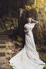 / foggy forest ( Roy Image) Tags:         fantasy glamour beautiful classical fog forest weddingdress  girl