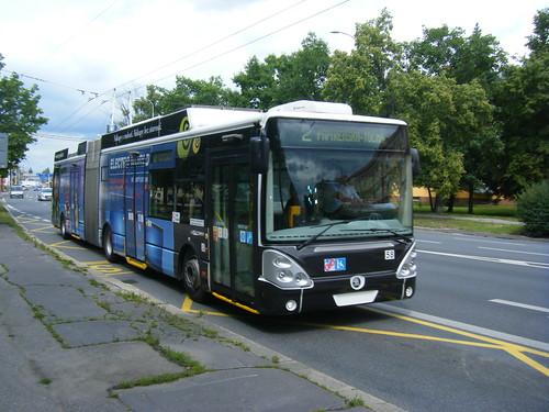 Ceske Budejovice trolleybus No. 58