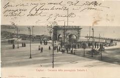 Cagliari_terrazza della passeggiata Umberto I_ (paolocogoni) Tags: sardegna cagliari cartolina antica vintage sardinia terrazza umberto bastione