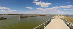 Canal du Rhne  Ste (jc.d the cycling photographer) Tags: france languedoc hrault canal canaldurhneste panorama fisheye etang etangs villeneuvelsmaguelone aresquiers