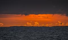 Colorful sunset I - D8E_5208 (Viggo Johansen) Tags: sunset colorfulsunset sea sky clouds red yellow blue rocks islands tungenes randabergkommune rogaland norway