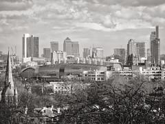 london skyline take 1 (dick_pountain) Tags: london skyline north canarywharf franciscrickinstitute kingscross parliamenthill