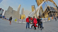 family picture at the world trade center (norlandcruz74) Tags: angle wide utra d5100 dx nikon bower lens fisheye family group portraiture world trade center oculus nyc ny new york city manhattan downtown norland cruz pinoy filipino filam wtc