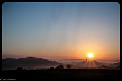 Autumn sunrise (asm_naumann) Tags: sunrise sun morning earlymorning mist dew shadows hesse hessen frankenberg germany europe longexposure waldeckfrankenberg nordhessen rural countryside valley church