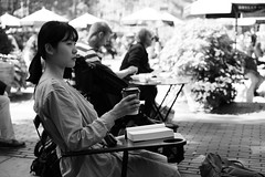 Stare... (kogh65) Tags: new york photography photo travel art 2016 nyc ny street black white leica m mono tone city outdoor life people depth field reportage young kogh candid camera focus pov picture 50mm image manhattan artist kogh65
