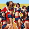 Cheer leaders (tanakawho) Tags: people woman girl smile basketball festival uniform leg dancer belly squareformat cheerleader pompom brose tanakawho weekendshowcase