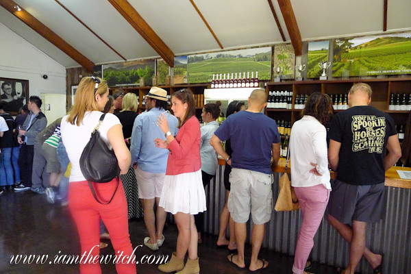 Tyrrells wine tasting