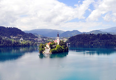 The picturesque Church of Assumption in Lake Bled, Slovenia (suresh_krishna) Tags: church europe slovenia virginmary lakebled churchofassumption