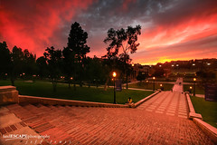 Vorticity ~ Welcome to my home! (landESCAPEphotography | jeff lewis) Tags: california ca sunset college jeff nature grass stairs sunrise canon campus landscape photography la los university unitedstates angeles bricks steps lewis ucla powell 5d canon5d landescape royce jefflewis canoneos5d janss landescapephotography