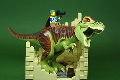 George Washington on a T-Rex (Dunechaser) Tags: lego dinosaur president georgewashington trex tyrannosaurusrex brickarms