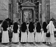 7 Nuns (Dit49) Tags: italy vatican monochrome blackwhite nuns stpetersbasilica nikoncoolpix8800