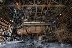 Blaster #2 - Front 'n' Center (billmclaugh) Tags: mill abandoned industry photoshop canon rust iron industrial steel urbanexploration furnace hdr highdynamicrange blaster ue molten lightroom urbex 1635mm photomatix viveza promotecontrol 5dmiii