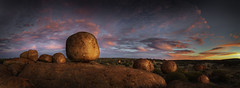 Karlu Karlu (Adam_Williams) Tags: sunset panorama adam canon wonder williams stitch natural nt pano devils australian australia panoramic boulders lee outback marbles filters northern lightroom teritory cs5