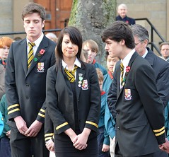 PUPILS PAY RESPECTS (simongavin83) Tags: school people students standing student remember candid tribute remembranceday remembrance schoolgirl blazer pupil pupils schooluniform prestwick prefect schoolboy armisticeday armistice remembering remembrancesunday prestwickacademy nikond5100