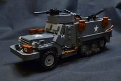 "M3A1 Halftrack ""Detroit Iron"" V.5 ([Baci]) Tags: two 30 lego wwii cal american ba 50 update m2 halftrack browning v5 m3a1 brickarms m1919"