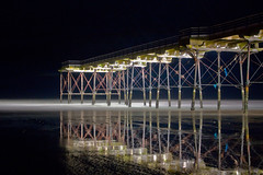 saltburn-by-the-sea (robbie484) Tags: longexposure november sea seascape black beach water night canon reflections dark eos pier sand jetty cleveland nightsky waterblur 30sec saltburn oceon saltburnbythesea 450d hairygitselite