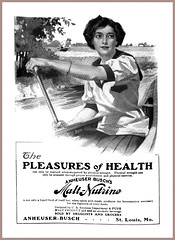 1910 August  - Anheuser-Busch  Malt-Nutrine 'The Pleasures of Health'  Anheuser-Busch, St. Louis, Mo  Canoeing (carlylehold) Tags: history st mobile louis stlouis email here mo smartphone stories tmobile happens haefner carlylehold solavei haefnerwirelessgmailcom historyhappensherest