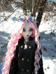 Snow princess 2 (OctoberDolls) Tags: pink winter ball doll fairy land cameo crown bjd jewels jointed posable mnf snowprincess minifee