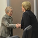 UN Women Executive Director Michelle Bachelet meets with Sadako Ogata, Special Advisor to the Japan International Cooperation Agency (JICA)