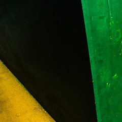 Yes Be Giant (sebistaen) Tags: abstract black color green yellow wall paint flickr line sebistaen