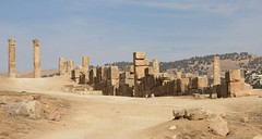 Jerash, Kingdom of Jordan (LeszekZadlo) Tags: old travel heritage history archaeology site ancient ruins asia columns middleeast unesco worldheritagesite historical romain jordania archeologia kingdomofjordan