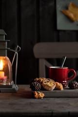 Christmas Cookies! (aisha.yusaf) Tags: coffee lamp cookies nikon candle chocolate biscuits 85mmf14d ididntmakeit ortea d700 orangeflavour chocolatewithorange thepictureonthewallismydaughtersartwork autumnleafgluedtoapaper theheadchefhadmadethemlastweek andiwashonouredtogetthefirsttaste allthecakesandtartsthatibakeforthemeveryfridayspaidoff