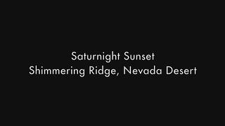 Saturnight Sunset in the Nevada Desert