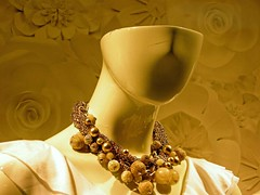lost my head (soellution) Tags: wallpaper copyright woman abstract art mannequin face retail shirt photography gold marketing photo beads chains head jewelry blouse plastic melody bead bobbles goldbeads goldjewelry soell womanshead goldwallpaper melodysoell copyrightedbymelodysoell