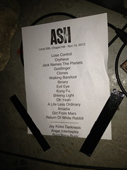 Ash Setlist from Local 506, Chapel Hill (welovethedark) Tags: ash chapelhill local506 britpop timwheeler markhamilton rickmcmurray
