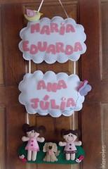 Enfeite de porta (Karollynne) Tags: de cachorro porta feltro bonequinhas enfeite nomes enfeitematernidade