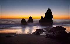 Rodeo Beach 2 (Karen Andrea Photography) Tags: ocean california longexposure autumn sunset beach nature northerncalifornia canon landscape rocks surf pacific fallcolors pacificocean marincounty lowtide sausalito marinheadlands 2012 rodeobeach fortcronkhite landsea
