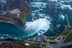 Niagara, from the air (Wajahat Mahmood) Tags: usa newyork ontario canada niagarafalls waterfall buffalo helicopter horseshoefalls niagaragorge