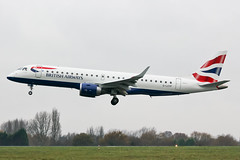 G-LCYP British Airways E190 at Southend EGMC (AeroPics) Tags: madrid flyer ba britishairways londoncityairport sen embraer diversion madridairport cfe embraer190 lcy egph southendairport e190 eglc bacityflyer egmc londonsouthendairport glcyp ba8752 cfe42n