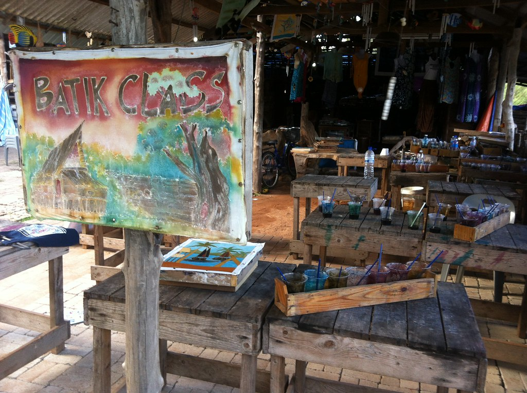 Batik classes at Cherating, Malaysia