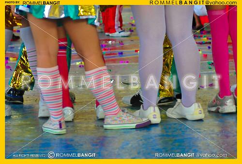 Teen Dancing Slender legs