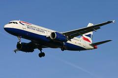 British Airways - G-MIDX (Andrew_Simpson) Tags: uk plane airplane aircraft aeroplane landing airbus arrive ba arrival britishairways lhr a320 320 arriving baw oneworld egll a320200 londonheathrowairport oneworldalliance 320200 gmidx fwwdp ba1415