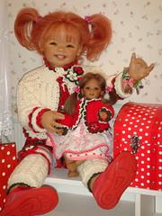 Sanrike und Reki (Kindergartenkinder) Tags: reki dolls annette trachten himstedt kindergartenkinder schluchtenscheiser sanrike