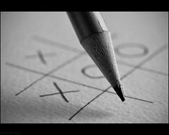 X O O X (peterphotographic) Tags: shadow blackandwhite bw macro monochrome pencil paper point nikon dof o games x depthoffield noughtsandcrosses blackwhitephotos macromondays d300s dsc3387bwedwm