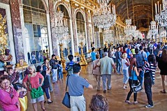 Hall of Mirrors (Shertila Tony) Tags: people france architecture court reflections europe ledefrance palace tourists versailles hallofmirrors chteau hdr joanavasconcelos mygearandme