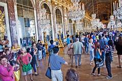 Hall of Mirrors (Tony Shertila) Tags: people france architecture court reflections europe îledefrance palace tourists versailles hallofmirrors château hdr joanavasconcelos mygearandme