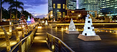 Welcome to Marina Bay Promenade Singapore... (williamcho) Tags: city singapore financialdistrict celebrations promenade hotels christmastrees banks offices 2012 residences marinabay flickraward serviceapartments mbfc nikonflickraward topazlabadjust flickrtravelaward williamcho